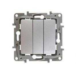 Выключатель Legrand ETIKA трехклавешный 10АХ алюминий 672413