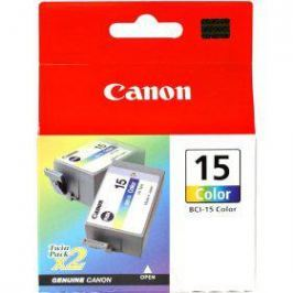 Картридж Canon BCI-15Color для BJ-I70. Двойная упаковка. Цветная. 100 страниц.