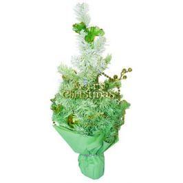 Елка декоративная трехцветная украшенная, 50 см, 3 цв. в асс., ПВХ, в пакете