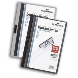 Папка DURACLIP ORIGINAL 30 с клипом, верхний лист прозрачный, белая, на 30 листов