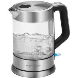 Чайник Profi Cook PC-WKS 1107 G 2200 Вт серебристый 1.5 л металл/стекло