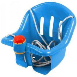ОР757 Качели с барьером безопасности, с клаксоном синие 5282