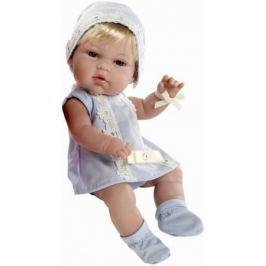 Пупс Arias 33 см, блондинка в голубом платьице со стразами Swarowski, кор.