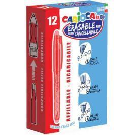 Гелевая ручка стираемая CARIOCA RE-DO, 12 шт., красная, в картонной коробке 43238/03