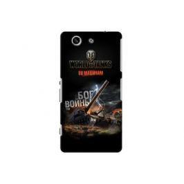 Чехол Deppa Art Case и защитная пленка для Sony Xperia Z3 Compact, Танки_Бог войны,