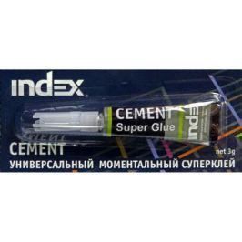 Универсальный моментальный суперклей INDEX CEMENT, 3г., блистер