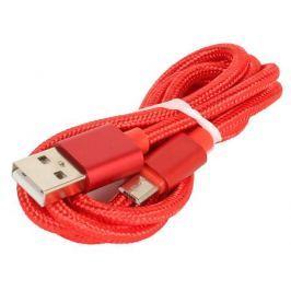 Кабель USB/micro USB Jet.A JA-DC21 1м красный (в оплётке, поддержка QC 3.0, пропускная способность 2A)