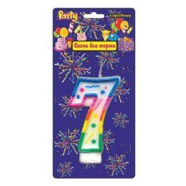 Свеча Action! нумерологическая 7 1 шт 7 см API0316-7