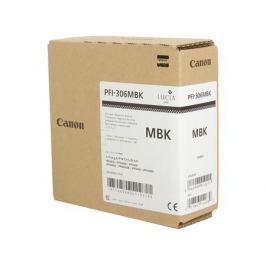Картридж Canon PFI-306 MBK для плоттера iPF8400SE/8400S/8400/9400S/9400. Матовый чёрный. 330 мл.