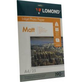 Бумага Lomond A4 190г/кв.м матовая двусторонняя 0102036 25л