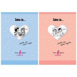 Набор белого мелованного картона ACTION! LOVE IS, ф. А4, 8 л.,2 дизайна