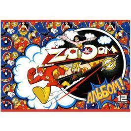 Альбом для рисования Action! DC COMICS, уф-лак, 12 л., 2 дизайна DC-AA-12