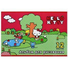 Альбом для рисования Action! HELLO KITTY, уф-лак, блёстки, 12 л., 2 дизайна HKO-AA-12-3