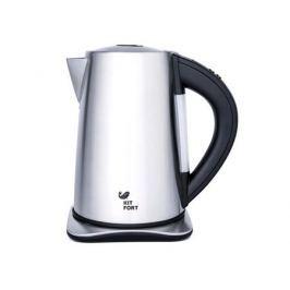 Чайник электрический Kitfort КТ-613 1.7л. 2000 Вт серебристый/черный (корпус: нержавеющая сталь/пластик)