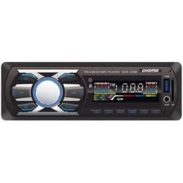 Автомагнитола Digma DCR-300B USB SD MP3 FM 1DIN 4x45Вт черный