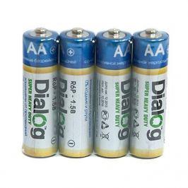 Батарейки Dialog R6P-4S - cолевые АА 4шт в термопленке