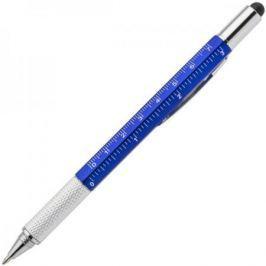 Авторучка шариковая, 1,0мм, синий мет. корпус 5 в1, синие чернила