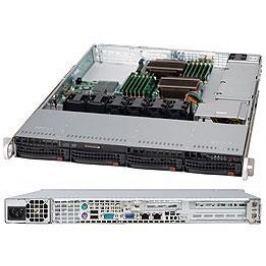 Серверный корпус 1U Supermicro CSE-815TQ-600WB 600 Вт чёрный