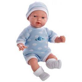 Кукла Arias 28 см, функционал - плач, в голубом боди и шапочке,с соской, кор.