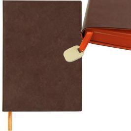 Ежедневник недатированный Index Colourplay ф. А5, кожзам, лин, ляссе, 256с, оранжевый срез, коричнев