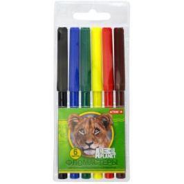 Набор фломастеров Action! ANIMAL PLANET, 6 цветов, PVC c е/подвесом AP-AWP129-06