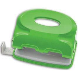 Дырокол Index COLOURPLAY, на 10 листов, пластиковый корпус, неоновый зелёный ICP110/GN
