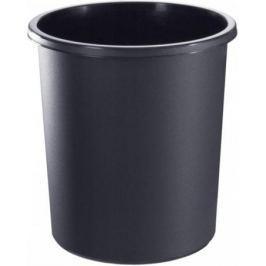 Корзина для бумаг, цельнолитая,черная, 18 литров