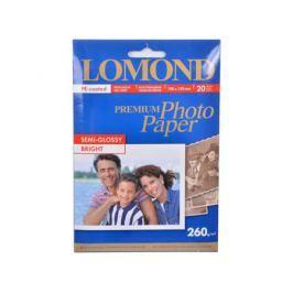 1103302 бумага LOMOND (100*150, 260гр, 20л) Premium Полуглянцевая, 1стор.