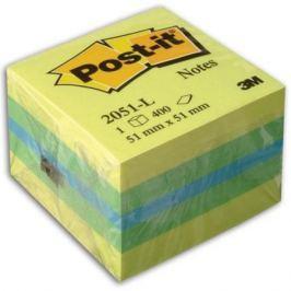 Бумага для заметок с липким слоем POST-IT, 51х51 мм, мини-куб лимон, 400 листов 2051-L**