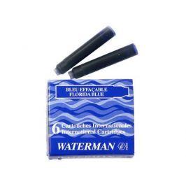 Картридж Waterman International Cartridge синий 52012 6шт S0110950