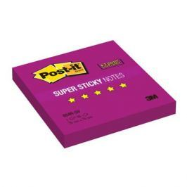 Бумага для заметок с липким слоем POST-IT, суперклейкие, 76х76 мм,фиолетовый, 90 л. 654R-SV