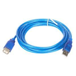 Кабель удлинитель Telecom (VUS6956T-1.8MTBO) USB 2.0 AM/AF 1.8 м, прозрачная голубая изоляция