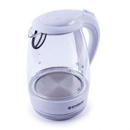 Чайник электрический Endever Skyline KR-324 G, белый, мощность 2200 Вт, емкость 1,7 л, корпус из закаленного стекла, LED-подсветка