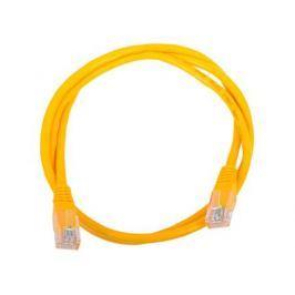 Сетевой кабель 1м UTP 5е, литой patch cord желтый Aopen [ANP511_1M_Y]