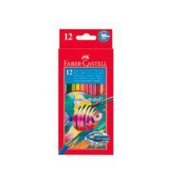 Карандаши акварельные Faber-Castell Colour Pencils 12 цветов кисточка 114413
