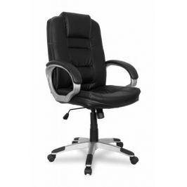 Кресло руководителя COLLEGE BX-3552 Черный, экокожа, 120 кг, мягкие подлокотники, пластиковая крестовина, высота спинки 66.5, (ШxГxВ)см 66x68x120
