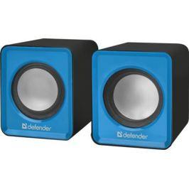 Колонки DEFENDER SPK 22 2.0, Blue/Black (65501) (5 Вт, 200 - 18 000 Гц, mini Jack, от USB)