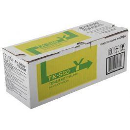 Тонер Kyocera TK-580Y для FS-C5150DN. Жёлтый. 2800 страниц.