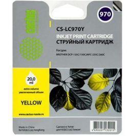 Картридж струйный Cactus CS-LC970Y желтый для Brother MFC-260c/235c/DCP-150c/135c (20мл)