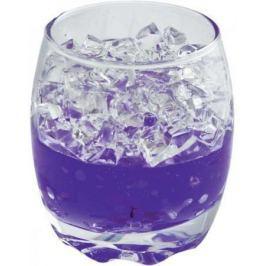 Подсвечник ЛЬДИНКИ, 6,5х6,5х8 см, с гелевым наполнителем, фиолетовый