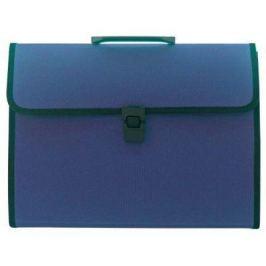 Папка-портфель, 13 отделений, А4, синяя