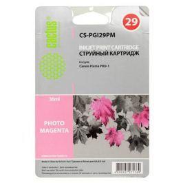 Картридж Cactus CS-PGI29PM для Canon Pixma Pro-1 фото пурпурный