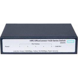Коммутатор HP 1420 неуправляемый 5 портов 10/100/1000Mbps JH327A