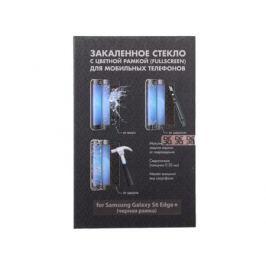 Закаленное стекло с цветной рамкой для Samsung Galaxy S6 Edge+ DF sColor-02 (black)