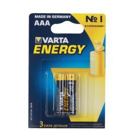 Батарейки VARTA Energy AAA блистер 2 (рус) 04103213412