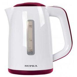 Чайник Supra KES-1728 2200 Вт 1.7 л пластик белый красный