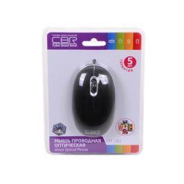 Мышь CBR CM-180 Black, оптика, 1000dpi, офисн., провод 1,3м, USB