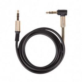 Аудио-кабель Ritmix RCC-247 Black Jack-Jack 3,5 мм, 1м, мет. коннекторы