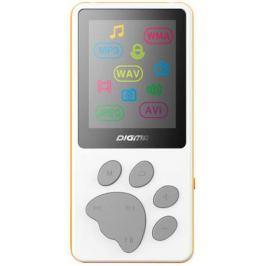 Плеер Digma S3 4Gb белый/оранжевый