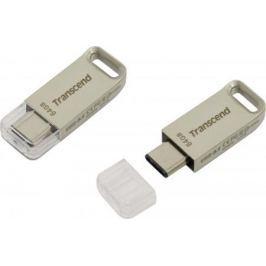 Флешка USB 64Gb Transcend JetFlash 850 OTG TS64GJF850S серебристый USB 3.0/ Type-C